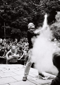 Peter Wawerzinek 1989 bei Andre und die Raketen